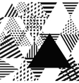 Abstract simple geometric triangle background vector image