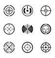 aim shooting icons set simple style vector image