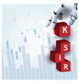 automatic risk control robot hand financial vector image vector image