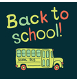 back to school background with bus vector image vector image