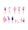 beach holiday - flat design style set of isolated vector image vector image