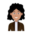 beautiful young business woman successful vector image