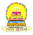 Birhday cake happy vector image
