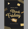 black friday sale banner background template use vector image vector image