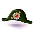 black napoleon bonaparte hat with pattern in vector image