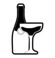bottle champagne vector image vector image