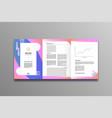 brochure template flyer background vector image vector image