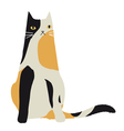 Calico cat character vector image vector image
