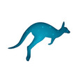 cartoon origami kangaroo on the white background vector image vector image