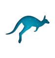 cartoon origami kangaroo on the white background vector image