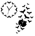 clock with flying birds vector image vector image