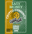 color vintage cryptocurrency banner vector image vector image