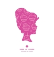colorful cupcake party girl portrait silhouette vector image