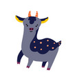 cute cartoon deer icon vector image vector image