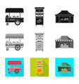 design of market and exterior logo vector image