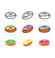 donut icon symbol logo icon template ready for use vector image vector image