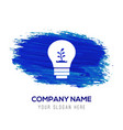 ecology bulb icon - blue watercolor background vector image