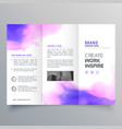 elegant watercolor trifold brochure design vector image vector image