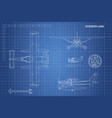 engineering blueprint plane hydroplane vector image vector image