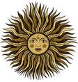 esoteric vintage sun vector image