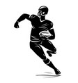 football player silhouette vector image vector image