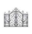 forged gate vector image vector image