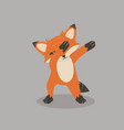 fox dub dancing sign vector image vector image