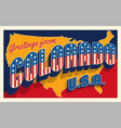 greetings from colorado usa retro style postcard vector image