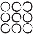 grunge rings set 02 vector image