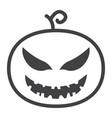 halloween pumpkin line icon halloween and scary vector image vector image