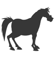 horse cartoon silhouette icon vector image