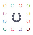 Horseshoe flat icons set vector image