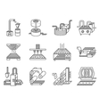 icons for food processing industry vector image