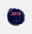 june 2018 calendar templates vector image vector image