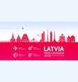 latvia travel destination vector image vector image