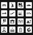 logistic icons set squares vector image vector image