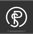 logo initial sp minimalist abstract vector image vector image