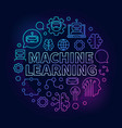 machine learning colorful circular linear vector image vector image