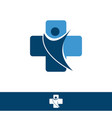 medical logo medical center logo health logo vector image vector image