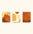 modern art covers templates set vector image