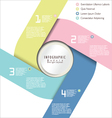 Modern pastel color design layout vector image vector image