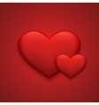modern red valentines day background vector image vector image