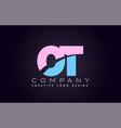 ot alphabet letter join joined letter logo design vector image vector image