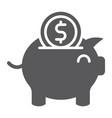 piggy bank glyph icon finance and economy money vector image vector image