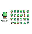 pixel art set - 8 bit green vector image