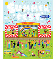 poster for music summer festival open-air vector image vector image