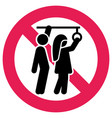 prohibition sign public transport no sexual abuse vector image