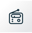 radio outline symbol premium quality isolated vector image