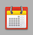 realistic detailed calendar month vector image vector image