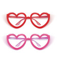 realistic eyeglasses heart shape photobooth vector image